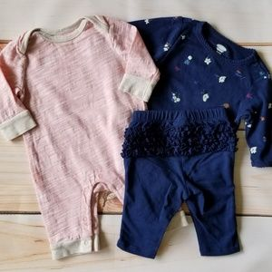 Old Navy Baby Girl Fall/Winter Outfits Bundle 0-3m